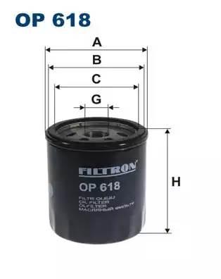 OP 618 фильтр масляный Toyota Camry FF 2.0i V6 87>/FF 2.5 V6 GX/24V 89>/FF 3.0