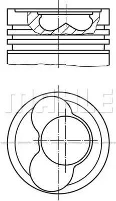 Поршнекомплект Opel Z14XEP d73.4 STD (562 32 29) Mahle