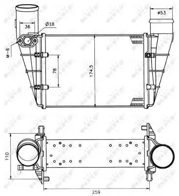 Интеркулер, NRF, 30127A