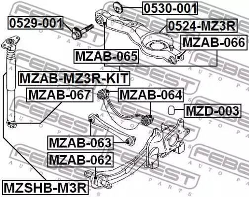 0530-001 эксцентрик Ford Focus all 98>, Mazda 3 BK all 03