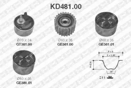 Ремкомплект ГРМ, SNR, KD48100