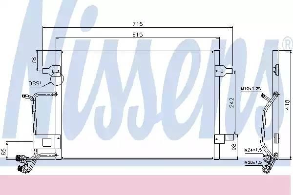 Радиатор кондиционера AUDI A4 (8D2, B5) [2000 - 2000] NISSENS 94594