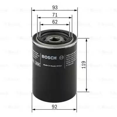 Фильтр масляный, BOSCH, 0451103278