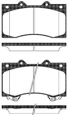 1506 02 колодки дисковые передние Nissan Patrol, Infiniti QX56 5.6 10