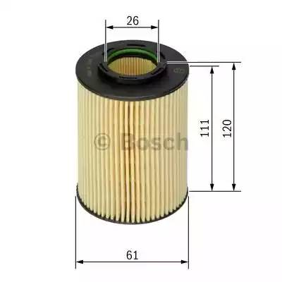 Фильтр масляный, BOSCH, F026407062
