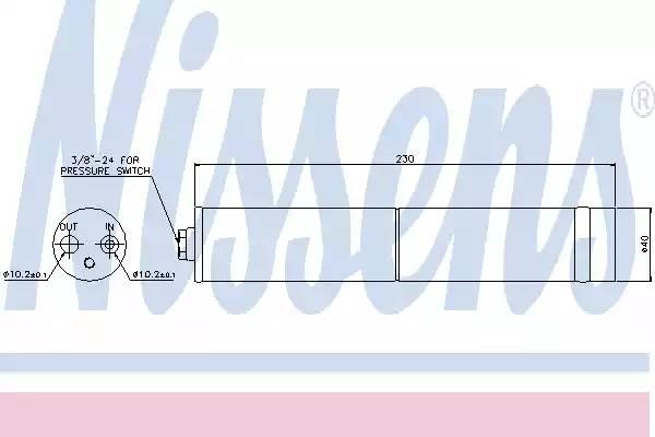 Осушитель кондиционера NISSAN PRIMERA (P12) [2002 - ] NISSENS 95383
