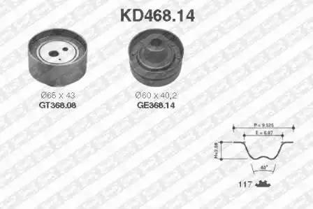 Ремкомплект ГРМ, SNR, KD46814