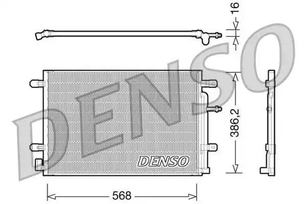Радиатор кондиционера AUDI A4 кабрио (8H7, B6, 8HE, B7) [2006 - 2009] DENSO DCN02018
