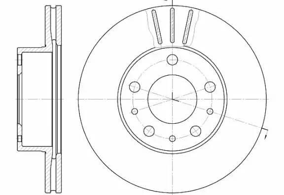 диск тормозной передний R15 280x24