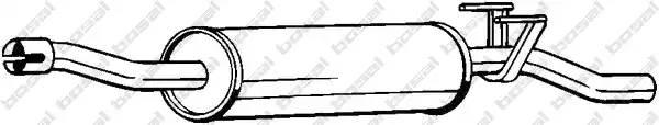 Глушитель средний MERCEDES Sprinter 3,5-t 2006=>
