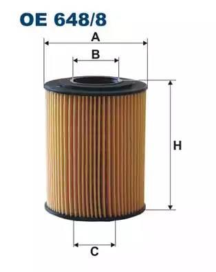 Фильтр масляный, FILTRON, OE6488