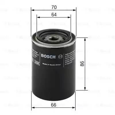 Фильтр масляный, BOSCH, F026407025