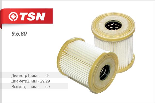 Фильтр масляный,TSN, 9560
