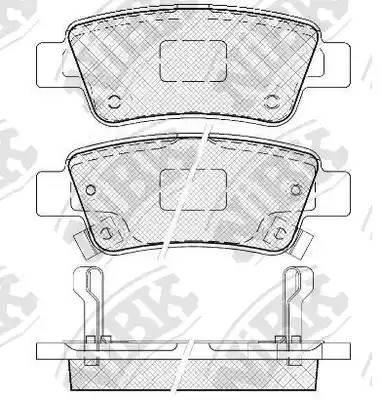 Колодки тормозные задние HONDA CR-V III 2.0/2.2/2.4 2007- :: NIBK PN8809