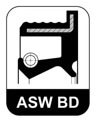Сальник 40x52/58x7,6 ASW F BD NBR