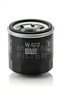 Фильтр масляный, MANN, W672