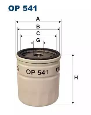 Фильтр масляный, FILTRON, OP541