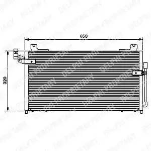 Радиатор кондиционера MAZDA 323 S Mk VI (BJ) [2001 - 2004] DELPHI TSP0225427