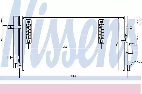 Радиатор кондиционера AUDI A4 (8K2, B8) [2011 - ] NISSENS 940042