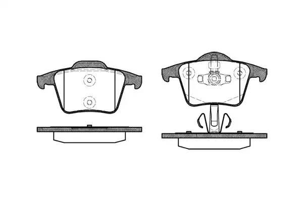 колодки тормозные задние Volvo XC90 02-