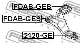 FDAB-GES сайлентблок рычага пер Ford Mondeo all 00>, Jaguar X-Type all 01