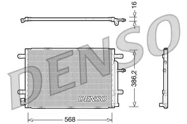 Радиатор кондиционера AUDI A4 кабрио (8H7, B6, 8HE, B7) [2004 - 2009] DENSO DCN02019