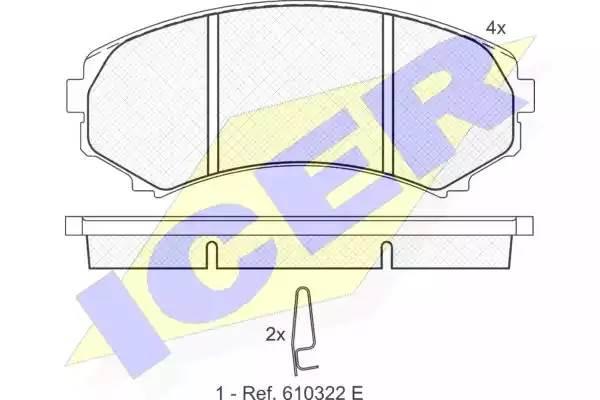 181374 колодки дисковые передние Mazda MPV 2.6i/3.0/2.5TD 92-99, Mitsubishi Pa