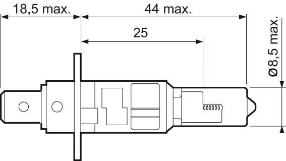 Лампа накаливания, '+ 50% Light H1' 12В 55Вт