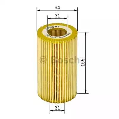 Фильтр масляный, BOSCH, F026407021