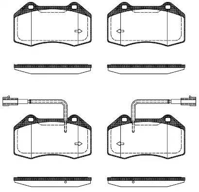 1113 22 колодки дисковые задние 124,8x15,3x70,8 Alfa Romeo Mito, Fiat Punto 1.4i