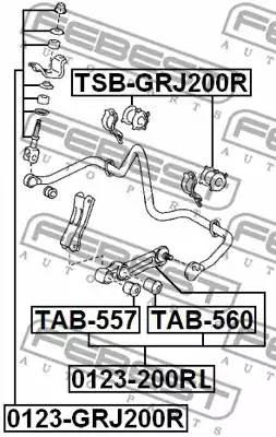 4881560221/ TSBGRJ200R Втулка стабилизатора Febest