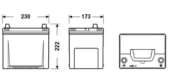 Батарея аккумуляторная, 12В 65А/ч
