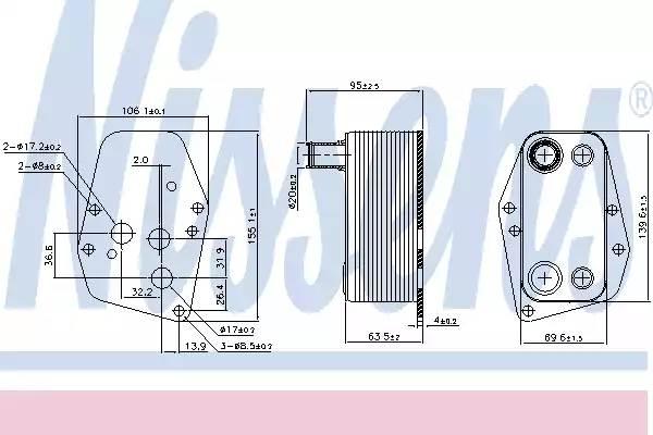 Радиатор масляный ДВС MERCEDES SPRINTER (901-904) 90618