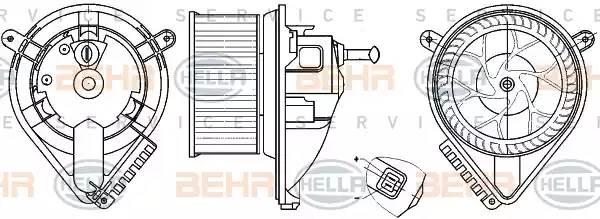 Мотор печки 901-905