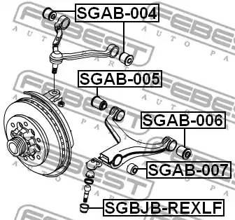 SGAB006 сайлентблок переднего нижнего рычага SsangYong Actyon/Kyron 05