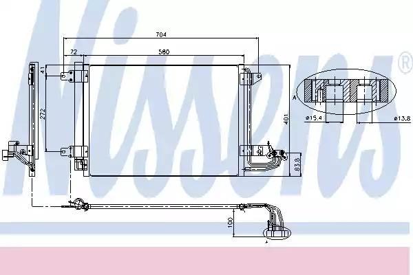 Радиатор кондиционера AUDI A3 (8P1) [2011 - ] NISSENS 94684