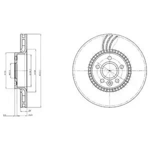 диск тормозной передний 316 мм