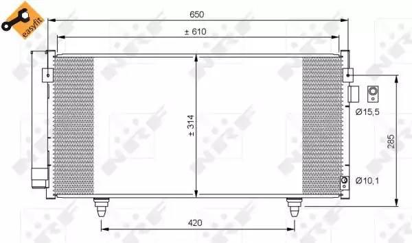 Радиатор кондиционера SUBARU FORESTER (SH) [2008 - ] NRF 35855