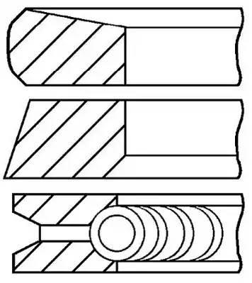 Комплект поршневых колец OPEL MOVANO фургон (F9) [2003 - ] GOETZE ENGINE 08-137500-00