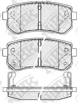 Колодки тормозные задние HYUNDAI ACCENT 2006- :: NIBK PN0436