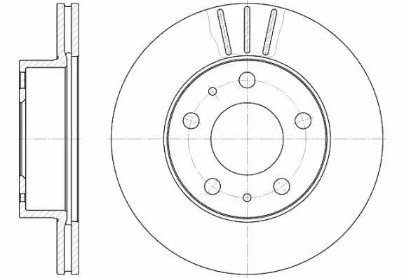 диск тормозной передний Q18 300mm