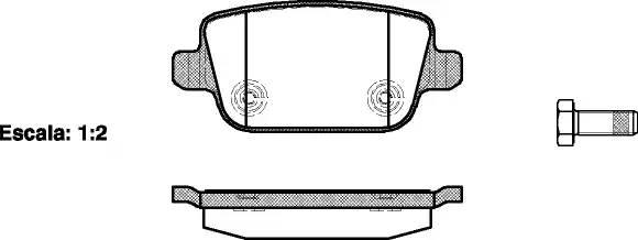 колодки задние дисковые Galaxy, Kuga, S-MAX, Volvo S80 II, V70 III, XC70 II