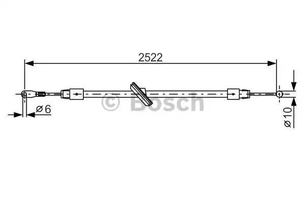 Трос ручника центральный длинная база 906