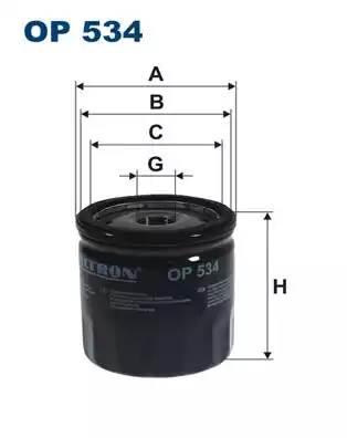 Фильтр масляный, FILTRON, OP534