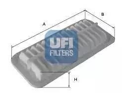 Фильтр воздушный, UFI, 3017500