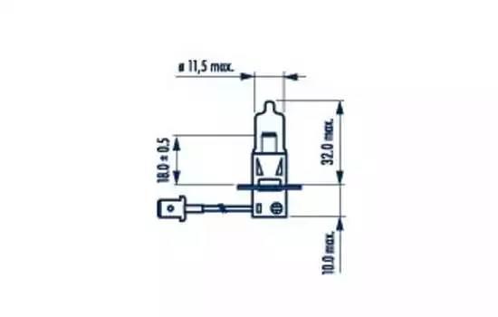 Лампа H3 24V 70W PK22s
