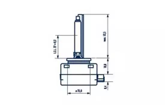 NV84010 лампа XENON (D1S) 35W 12V PK32d-2 84010