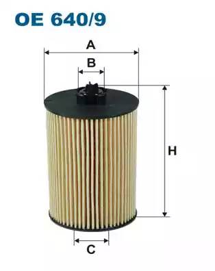 Фильтр масляный, FILTRON, OE6409