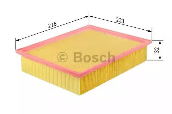 Фильтр воздушный, BOSCH, F026400206