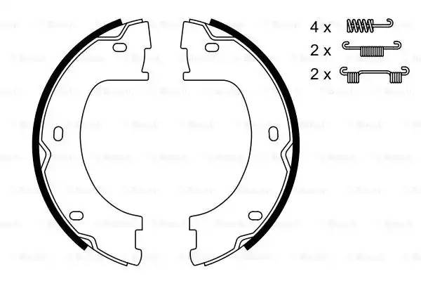 Колодки ручнонго тормоза 906-907 509-515CDI
